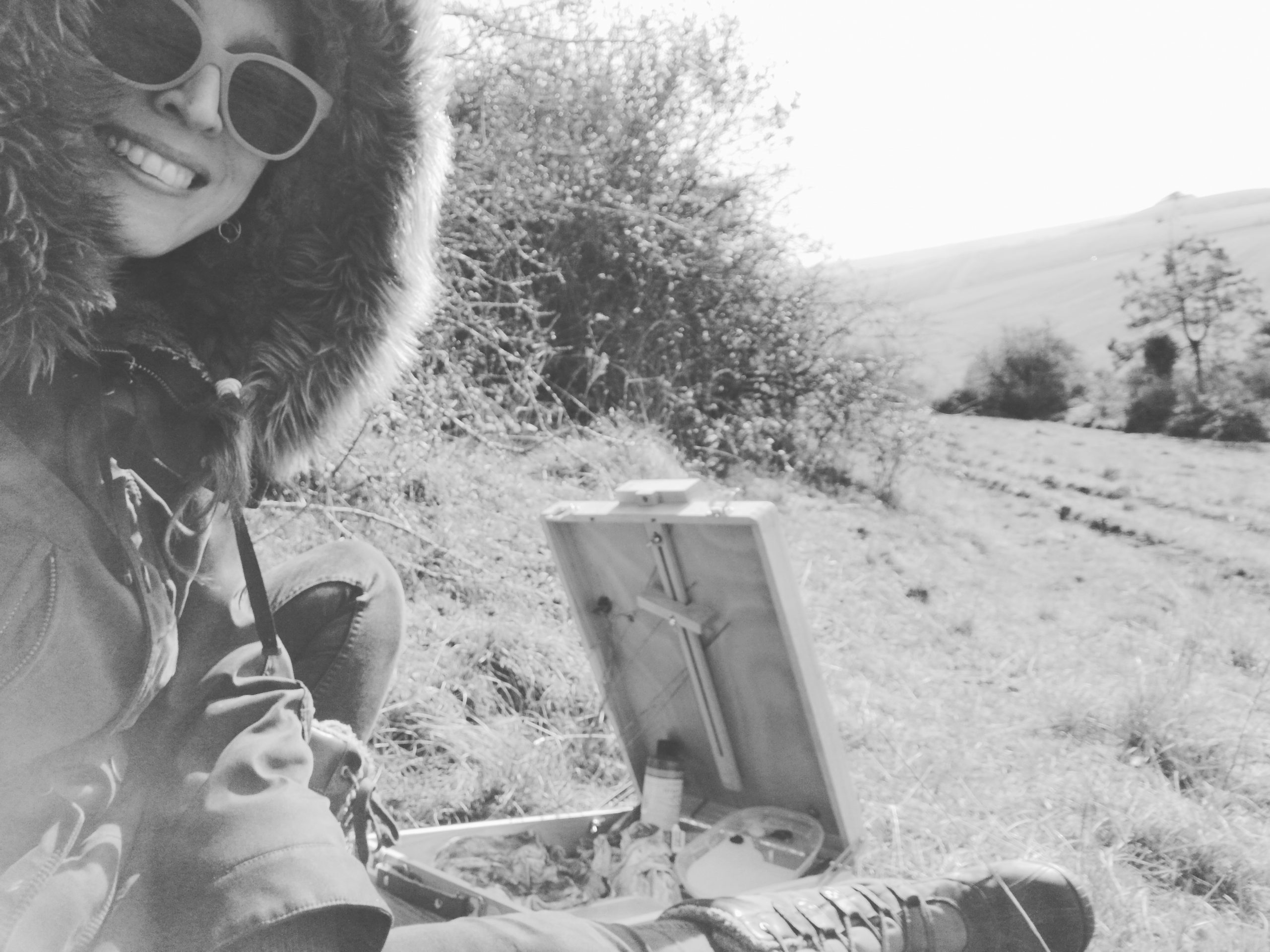 Plein-air painting Pewsey Downs